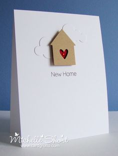 card idea, arrows, card grotto, new homes, new home cards, valentine cards, michell short, new house cards, heart cards