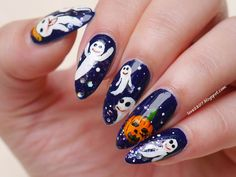 nailove2807: [One Piece Halloween Nails] Negative Hollow + Etude House Play Nail #161 꼬리치는 혜성