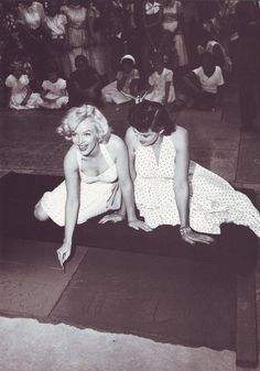 Marilyn and Jane Russell , Hollywood, circa 1953.
