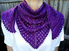Ravelry: Eyelet Lace Shawlette, free pattern by TemptingEwe Designs