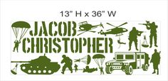 Personalized Name and Military Army Soldiers by SunshineGraphix, $26.99