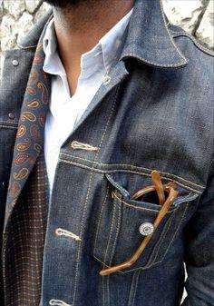 Men's Denim Jacket Airport Fashion