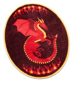 ThinkGeek :: Legendary Dragon Rug