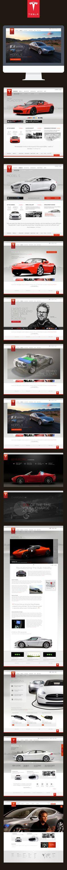 Cool Automotive Web Design. Tesla. #automotive #webdesign [http://www.pinterest.com/alfredchong/]
