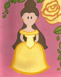 Check out this adorable Belle print by maddierosedoodles on Etsy, $10.00!! bell print, art print