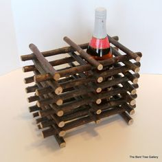 Twig Wine Cache for 2 Bottles by TheBentTreeGallery on Etsy, $27.00