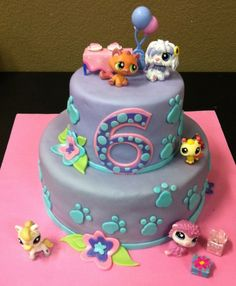 Littlest Pet Shop Cake — the cake Adoreigh wants for her 6th birthday.