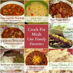 Crock Pot Meals: Our Family Favorites