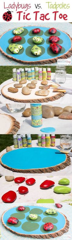 DIY Outdoor Tic Tac Toe Game Pictures, Photos, and Images for Facebook, Tumblr, Pinterest, and Twitter