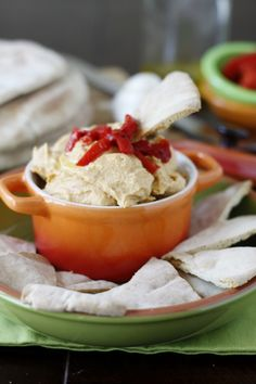 Healthy hummus and veggies for back-to-school