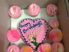 Vagina cake and cupcakes I made