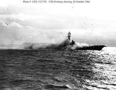 October 26, 1966     A mishandled flare on the USS Oriskany ignites other munitions, soon setting the forward half of the carrier ablaze. Twenty-five naval aviators and 19 other officers and men die before the fire can be extinguished, three hours later. Knocked out of action, the Oriskany sails to Subic Bay for personnel replacements and repairs, to be replaced on station by the Coral Sea. Later, the Oriskany will return and serve as a light attack carrier off Vietnam. On June 30, 1975, it