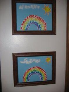 Fingerprint Rainbow Craft