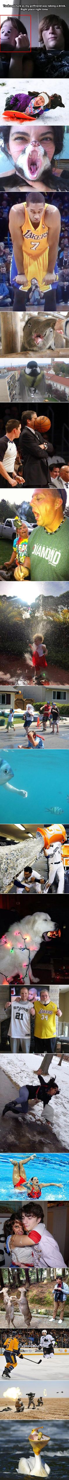 Pictures taken at just the right time