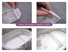 sabanas moises DIY 8 Cómo hacer un juego de sábanas para moisés o cochecito #DIY