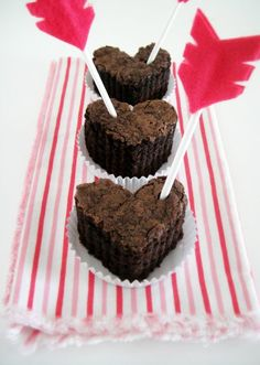 ...heart brownies with cupid arrows!