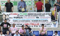 Striscione dei tifosi del #Palermo