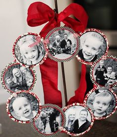Photo Wreath how to! More DIY wreath ideas...