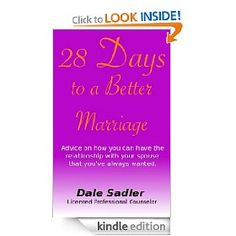 . The twenty-eight chapters are brief, enabling the reader (husband or wife) to glean useful information in short steps, moving both spouses towards a better understanding of one another and of themselves.