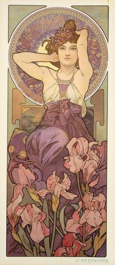 """Amethyst"" by Alphonse Mucha"