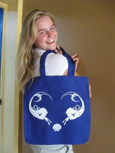 Mermaid Tote Bag. $14.00, via Etsy.