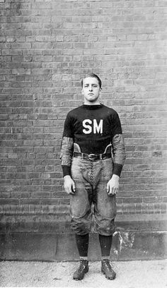 football player ca. 1915. Oh boy, how the game has changed.