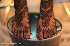 Bride's Mehendi on Feet