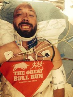 In situations like this I root for the bull  Vacaville man survives trampling in 'Great Bull Run'