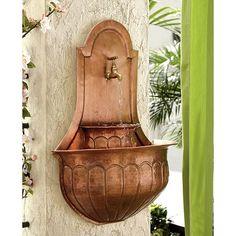 Leville Copper Wall Fountain