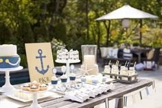Nautical Baby Shower for Pottery Barn Kids thetomkatstudio.com