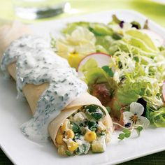 Summer Vegetable Crepes *5 out of 5 - so yummy and light!*