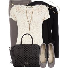 casual work outfits, fall fashions, lace tops, cloth, style, casual outfits, fall fashion trends, business casual, black