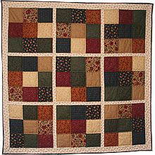 This is the next quilt I'm going to do a sudoku quilt all in autumn colors