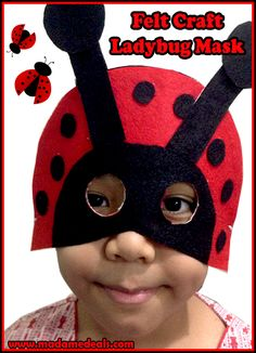 Felt Craft Projects: Ladybug Craft Mask #crafts