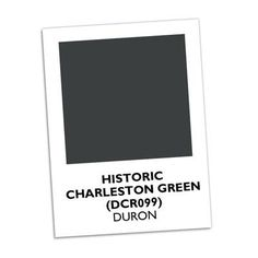 Charleston Green | Local legend says that Charleston Green, a green so deep it looks black, came about after the Civil War when Union troops sent buckets of black paint to help rebuild the decimated town. #paintcolors | SouthernLiving.com