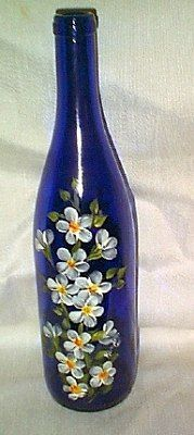 Hand Painted Wine Bottles...Gloria should have done this before Terrell developed Cirrhosis