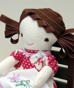A super cute all natural doll by Sewfaithful on #Etsy #Doll #Waldorf