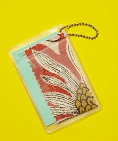 Easy ways to dress up your home with items you already have: luggage tag for paint & fabric swatches