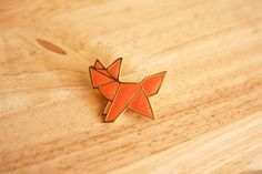 Fox origami pin $29