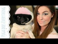 Cutiepiemarzia & Pewdiepie's Dog Puga does everything Part.1 love this video! LOL