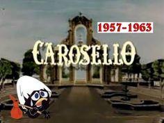 CAROSELLO  ('57-'63) (vol.1) CAROSELLO è stato un programma televisivo italiano andato in onda sul Programma Nazionale e poi sulla Rete 1 della Rai dal 3 febbraio 1957 al 1º gennaio 1977. Veniva trasmesso quotidianamente dalle 20:50 alle 21:00, tranne il Venerdì Santo e il 2 novembre.Consisteva in una serie di filmati (spesso sketch comici sullo stile del teatro leggero o intermezzi musicali) seguiti da messaggi pubblicitari.