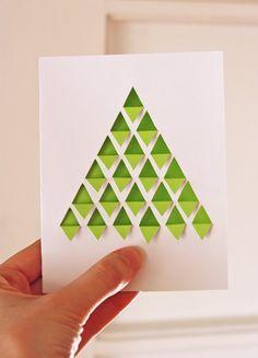 DIY geometric Christmas tree card   How About Orange (calendrier de l'avent ?)