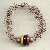 Bracelet - Copper Ruby @antelopebeads.com #beading