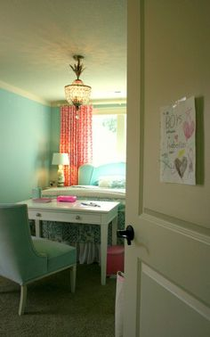 beds, small bedrooms, color combos, girl bedrooms, dream bedrooms, desk, bedroom designs, kid, girl rooms
