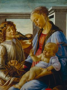 Virgin and Child with an Angel, early 1470s, Sandro Botticelli, Italian (Florence), 1444/45-1510, Tempera and oil on wood, 85.2 x 65 cm