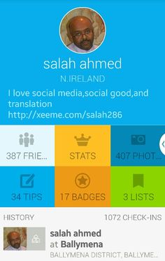 my profile at foursqaure
