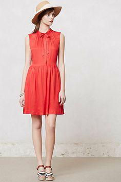 Scarlet Bowtie Dress #anthropologie