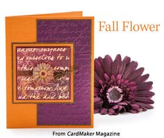 Fall Flower from the Autumn 2014 issue of CardMaker Magazine. Order a digital copy here: http://www.anniescatalog.com/detail.html?code=AM5254