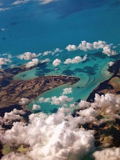 Andros Island, Bahamas, from the air