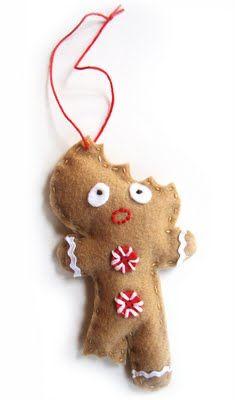 Felt Gingerbreadman ornaments